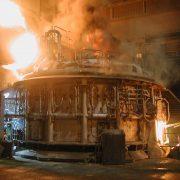 Hitzebeständige Beschichtung am Industrieofen