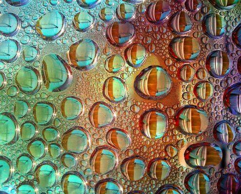 Tropfenbildung durch Nano Versiegelung auf Glas