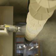 Pulverbeschichtung Anlage elektrostatische Pistole weißes Substrat