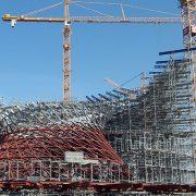 Baustelle industrielle Metallbeschichtung BMW Welt Stahlkonstruktion