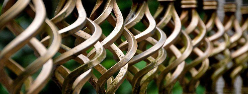Metallschutz-Spray Gold Metallzaun Ornament