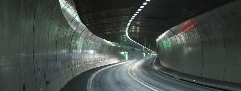 Tunnel mit Polyurea-Beschichtung