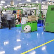 Betonbeschichtung als Bodenbelag in Fabrik