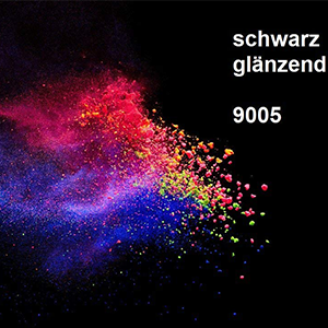 Pulverlack RAL 9005 Hochglanz
