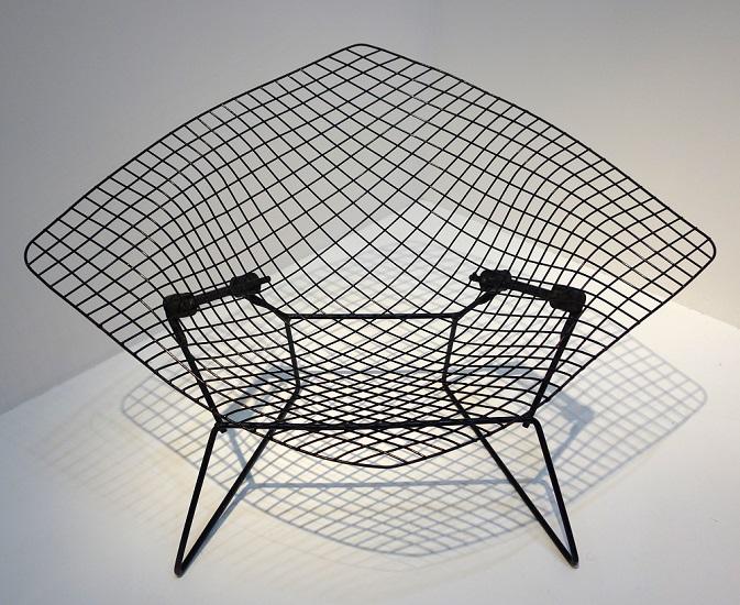 Sessel aus Drahtgeflecht