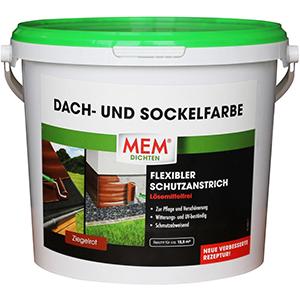 MEM Dach- und Sockelfarbe ziegelrot
