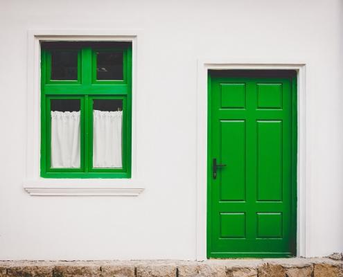 Fassadenfarbe Lotuseffekt