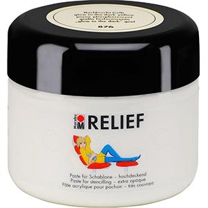 Marabu Relief Schablonenpaste Nachtleucht-Gelb