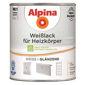 Alpina Weißlack für Heizkörper weiß glänzend