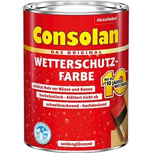 Consolan Wetterschutzfarbe moosgrün seidenglänzend 750 ml