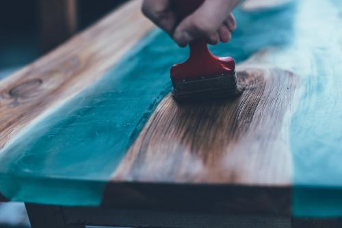 Holz Tisch Epoxid Gießharz