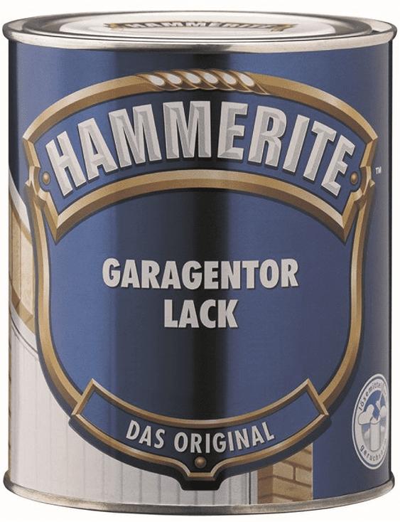 Hammerite Garagentor Lack seidenmatt weiß