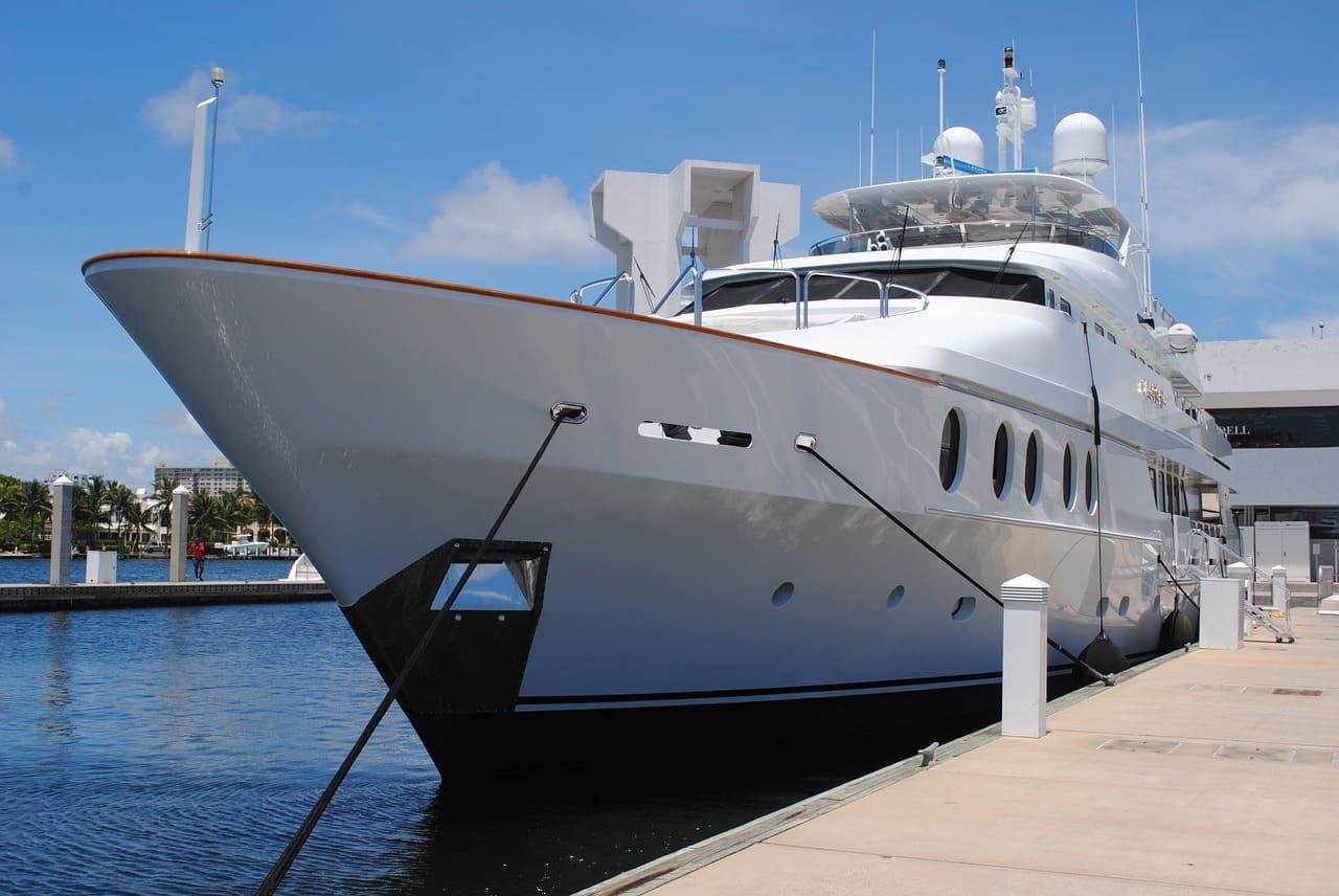 Yacht aus Aluminium
