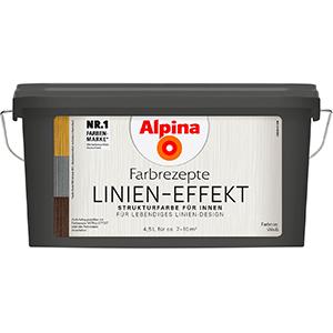 Alpina Farbrezepte Linien-Effekt Strukturfarbe
